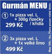 Zvýhodněné Gurmán menu